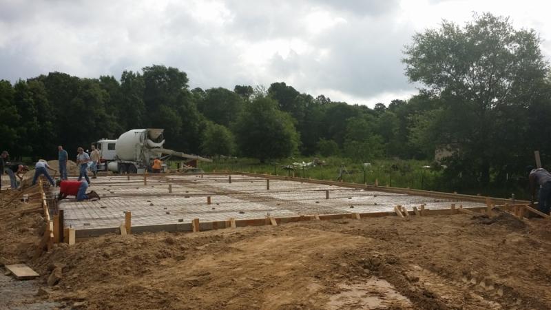 Cogbill Construction Foundation Concrete Pouring