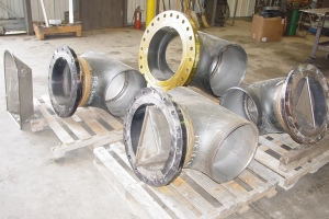Pipe-Tees-with-Strainer-Baskets-Pipe-Fabrication-Cogbill-Construction