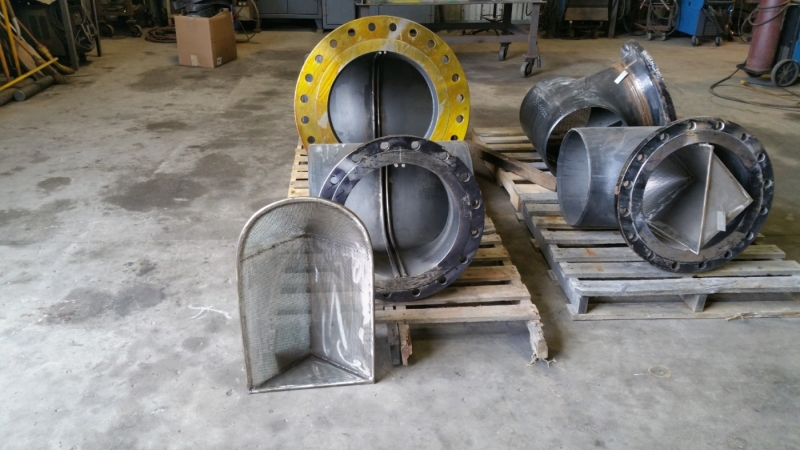 Cogbill Construction Pipe Fabrication Pipe Tees with Strainer Baskets