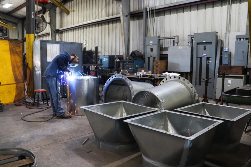Cogbill Construction Sheet Metal Fabrication Ducting & Transitions
