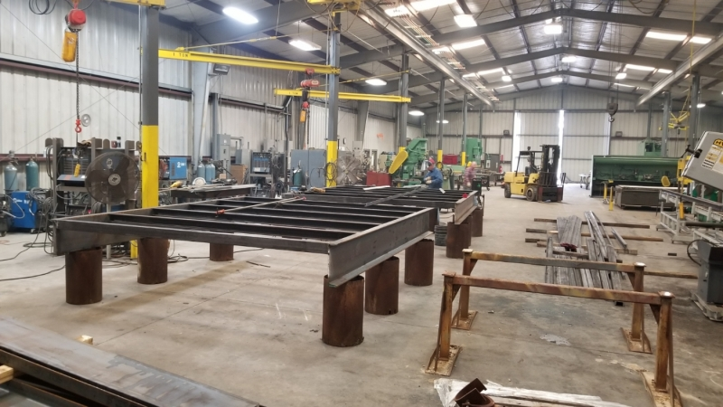 Cogbill Construction Structural Fabrication Skid