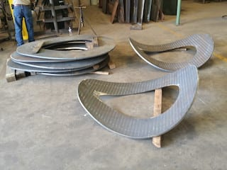 Cogbill Construction Fabrication RedLineIPS Reinforcement Pads Manufacturing