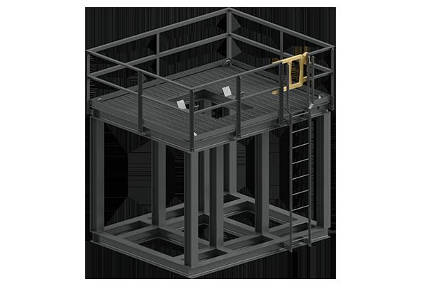 Cogbill Construction Structural Fabrication Metal Platform