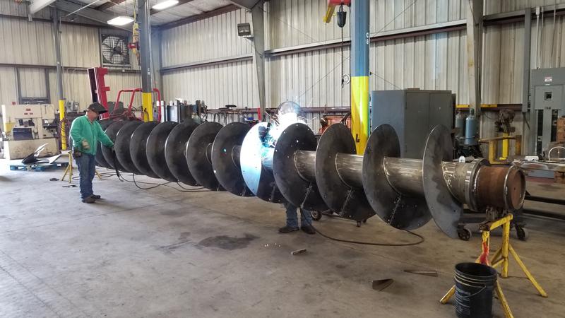 Cogbill Construction Plate Fabrication & Welding 40 Foot Auger