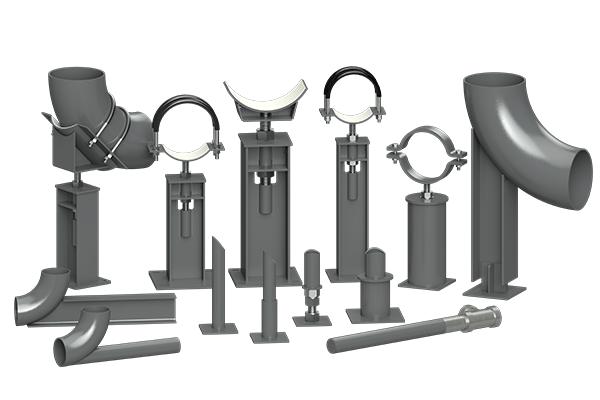 Cogbill Construction RedLineIPS Adjustable & Non-Adjustable Pipe Support