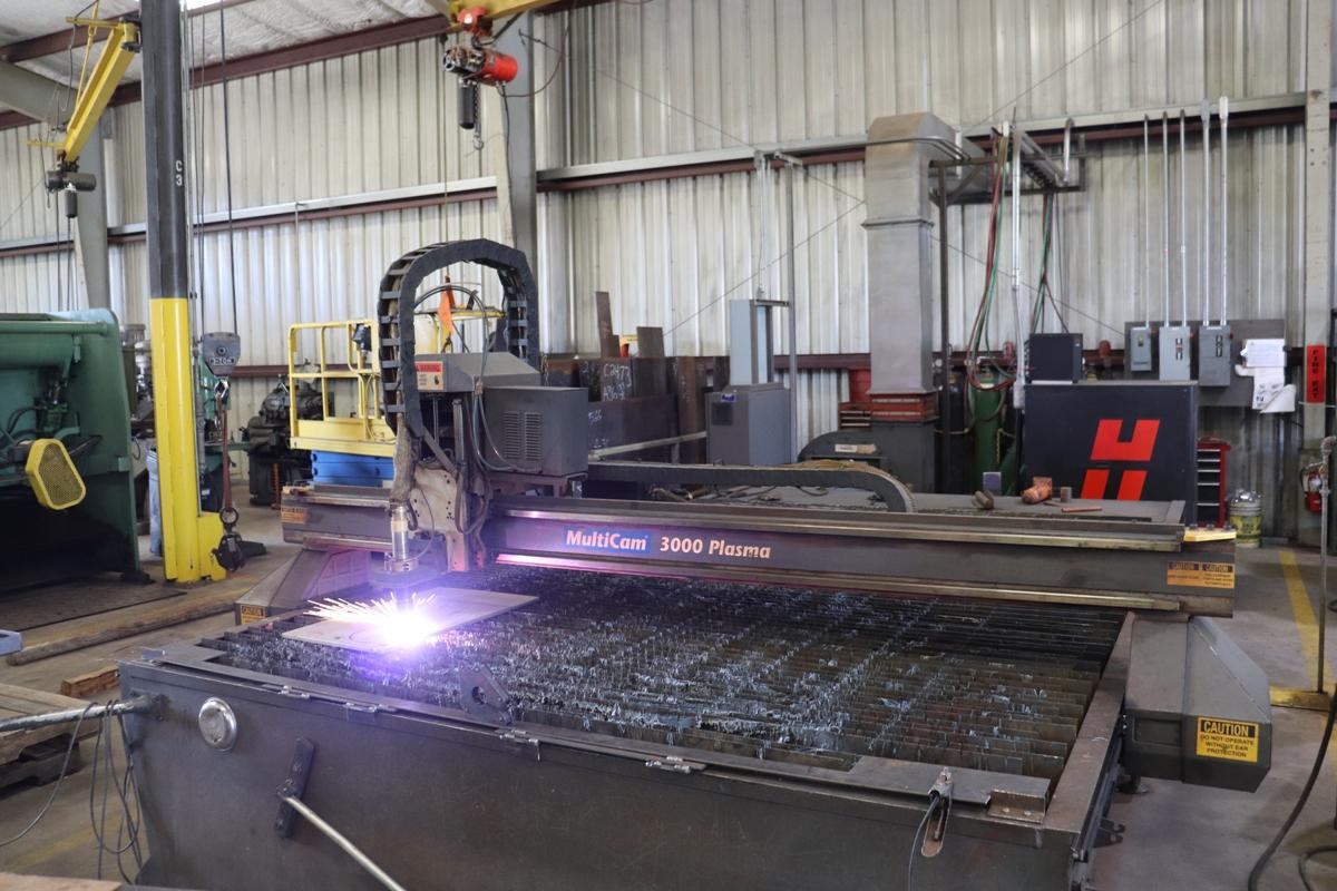CNC Plasma Cutting System Plate Cutting Cogbill Construction Plate Fabrication