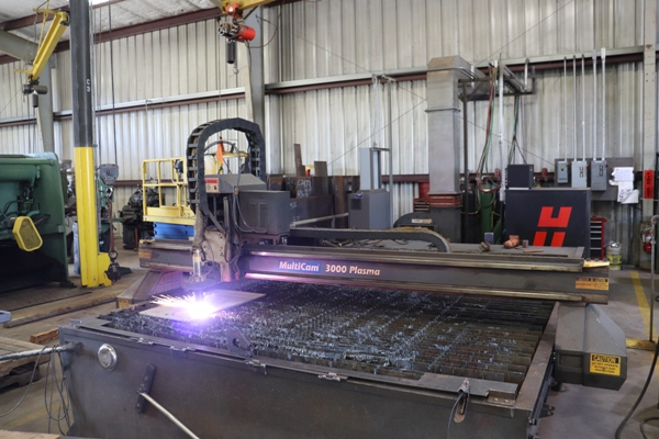 Cogbill Construction Plate Fabrication CNC Plasma Table Cutting System