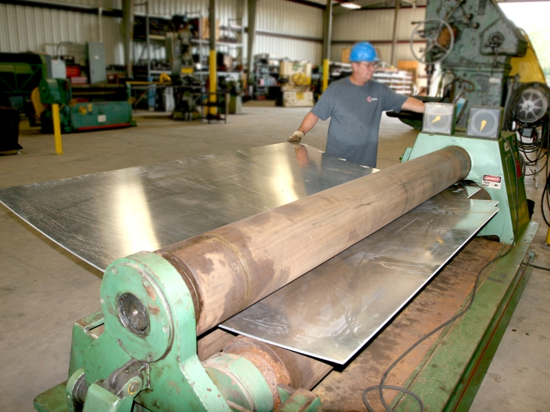 Cogbill Construction Metal Fabrication Plate Rolling Operation