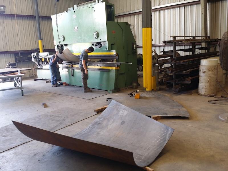 Press Brake Plate Bending Steel Plate Fabrication Cogbill Construction