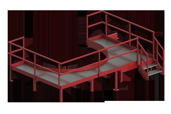 Cogbill Construction Structural Fabrication Metal Access Platform