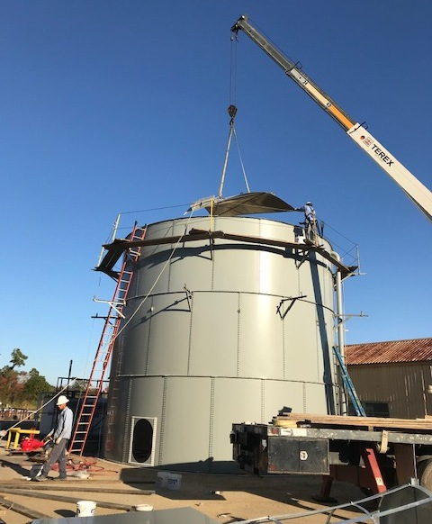 Cogbill Construction Metal Storage Tank