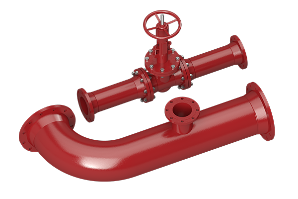 Cogbill Construction Pipe Spool with Valve and Flanges