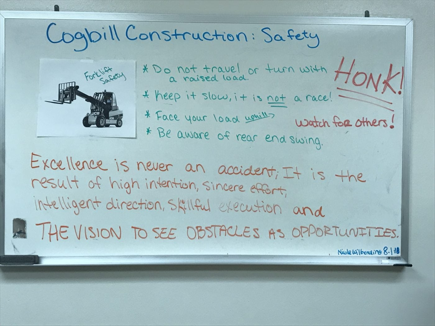 Forklift Safety: Cogbill Construction