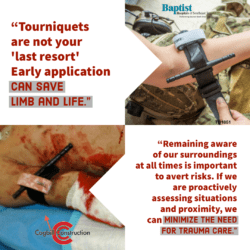 tourniquets safety meeting trauma care steel fabrication cogbill construction industrial sheet metal