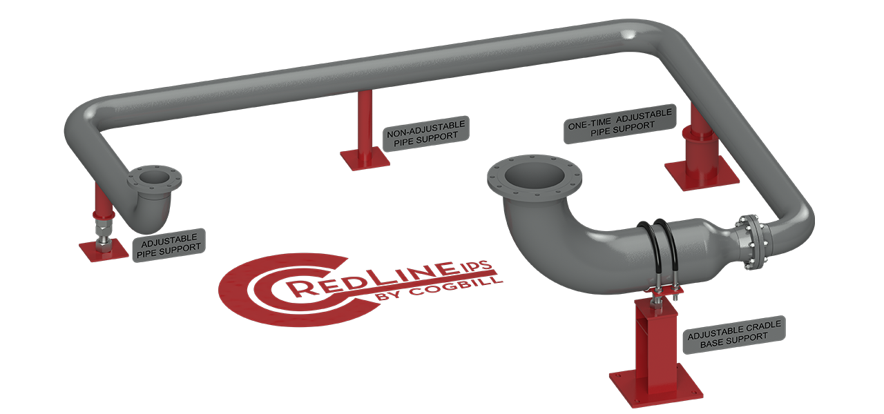 Cogbill Construction RedLineIPS Various Pipe Support on Piping System