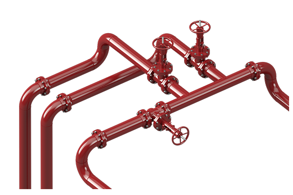 Cogbill Construction Various Piping Systems with Valves & Flanges
